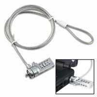 vhbw Kensington Lock für Laptop Notebook - Kabelschloss mit Zahlenschloss, 1,8 m