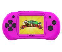Denver Spielekonsole 6,1 cm (2.4 Zoll) mit 150 Spielen Farbe: Pink