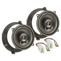 Lautsprecher Einbau-Set kompatibel mit Audi A4 B5 A4 B5 Avant Tür vorne 130mm Koaxial System TA13.0-Pro