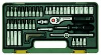 Proxxon Steckschlüsselsatz mit Knüppelratsche 1 4 49-tlg.