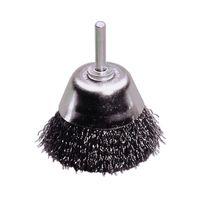 LESSMANN Flächenbürste Drahtbürste Bürste für Bohrmaschine Ø 75mm Ausführung:Stahl rostfrei, Größe:75.0 mm