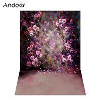 Andoer 1,5 * 2,1 mt / 5 * 7ft Blume Wand Fotografie Hintergrund Malerei Stil Hochzeit Hintergrund Fotostudio Pro