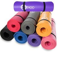 Rexoo Pilates Yogamatte Fitnessmatte Gymnastikmatte Sportmatte Matte in verschiedenen Farben, Größe: 183cm x 61cm x 1cm, Farbe: Schwarz