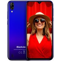 Blackview A60 Smartphone ohne Vertrag - 6,1 Zoll Wassertropfen Bildschirm 4080mAh Akku, 13MP+5MP Dual Kamera 16GB ROM, 128 GB erweiterbar Dual SIM Android 8.1 (Go Edition) Handy - Blau