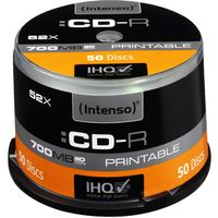 Intenso CD-Rohling - CD-R Rohling - 700 MB - 52x Schreibgeschwindigkeit - 50er Spindel - 120mm - Druckbar - 1,33 Stunde(n) Maximale Aufnahmezeit