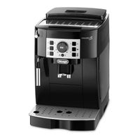 Delonghi ECAM 20.116.B Magnifica S Kaffeevollautomat schwarz/silber, Farbe:Schwarz/Silber