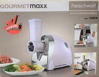 GOURMETmaxx Multi Fleischwolf Set Fleisch Zerkleinerer elektr. Fleischmaschine