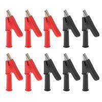 5 Paare 10mm Isolierte Kupfer Alligator Clip Stecker Verbinden W / 4mm Bananenstecker