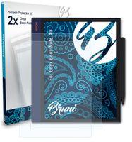 Bruni Basics-Clear 2x Schutzfolie kompatibel mit Onyx Boox Note Air Folie