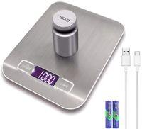 Digitale USB-Küchenwaage aus Edelstahl 5 kg Elektronische Präzisions-Postnahrungsmittelwaage für das Kochen Backen Messwerkzeuge