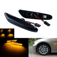 Dynamische LED Seitenblinker Repeater dunkel Für BMW E90 E91 E92 E60 E87 E82 E46