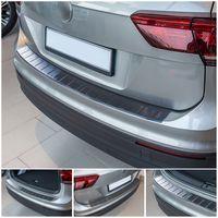 Edelstahl Ladekantenschutz Anthrazit für VW Tiguan 2 V2A  2016-