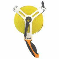 Ironside 150-230 Maßband offen 50mx15mm Fiberglasband, gelb/orange/schwarz