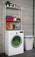 VCM Waschmaschinenschrank Badschrank Hochschrank Badregal Überbau Schrank Tubas Weiß