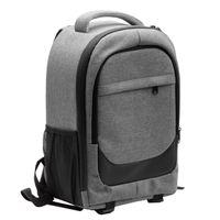 vhbw Kamera-Rucksack Canvas / weiches Innenfutter grau / schwarz passend für Panasonic Lumix DMC-L10 Kamera, Digitalkamera, DSLR