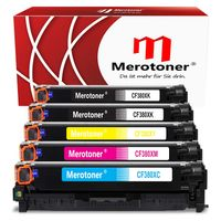 Merotoner Toner Mit Hoher Reichweite Kompatibel Zu HP Color Laserjet Pro M476nw M476dn M476dw MFP M470 Series - HP CF380X CF381A CF382A CF383A