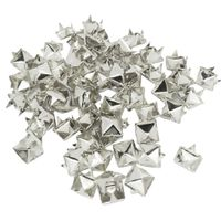 100 Stück Pyramide Nieten Spots Punk diy Leder Tasche Schuhe Silber Niet 7 mm