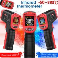 Infrarot Laser Thermometer Industrielle Infrared Non Contact Temperaturpistole mit Hintergrundbeleuchtung Temperature Meter -50-880 ° C