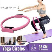 Miixia Pilates Yoga Gymnastik Widerstands Ring Circle mit 38cm Durchmesser Rosa
