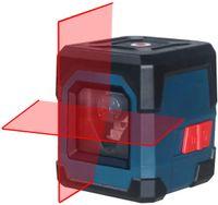 Kreuzlinienlaser, LV1 Kreuzlinien-Laser mit Messbereich 15M, IP 54 Umschaltbar Selbstnivellierende Vertikale und Horizontale Linie, 360 Grad Drehbar mit Flexiblem Magnetfuß inklusive Batterie