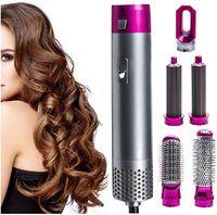 LOZAYI 5 in 1 Heißluftbürste, Lockenwickler-Lockenbürste, Ionen-Haartrockner, elektrischer Haartrockner, rotierende Bürste, Styling-Werkzeug für Haartrockner