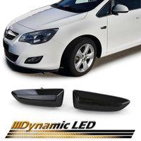 Dynamische LED Seitenblinker Schwarz für Opel Astra J K Insignia B Crossland X