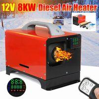 Standheizung Diesel 12V 8KW Dieselheizung Lufterhitzer Air Diesel Heizung Parking Heater mit LCD-Thermostat und Fernbedienung Ölheizgerät für Wohnmobil Auto KFZ LKW PKW