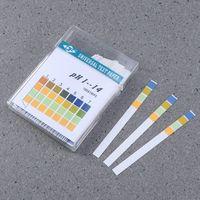 100 Stück 0-14 pH-Teststreifen Vier Farberkennung mit großem Messbereich 0 - 14 Schnelle und präzise Liquid Measure PH