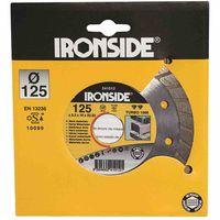 Ironside 241-015 Diamant Schleifscheibe 230mm 2,4/10mm Turbo 1000, Rand geschl., grau