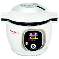 MOULINEX CE851A10 COOKEO + 6 L Smart Multicooker - 150 vorprogrammierte Rezepte - Schritt-für-Schritt-Anleitung - Weiß