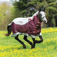 Horseware Rambo Summer Series Turnout 0g - Grey/Burgundy, Größe:155
