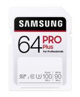 Samsung PRO Plus, 64 GB, SDXC, Klasse 10, UHS-I, 100 MB/s, 90 MB/s