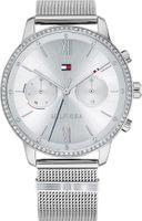 Tommy Hilfiger Damen Multi Zifferblatt Silber/Silber Edelstahl Armbanduhr   1782301