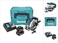 Makita DSS 611 RTJ Akku Handkreissäge 18 V 165 mm + 2x Akku 5,0 Ah + Ladegerät + Makpac