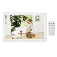 Profi 12 Zoll 1280 * 800HD Digitaler Bilderrahmen Foto Frame Videoplayer Wecker Album ABS AC 100-240V DHL