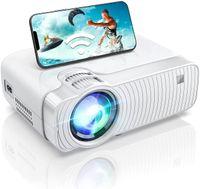 WiFi Beamer Full HD, ABOX ®Mini Beamer Tragbarer Projektor Unterstützt 1080P Heimkino Beamer ABOX, Phone /Android Beamer kompatibel mit TV Stick, PS4, DVD, Xbox