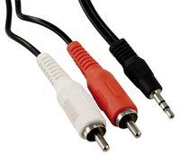 Audio-Adapterkabel HOLLYWOOD, AUX 3,5mm Klinke zu Cinch-Stecker, 5m