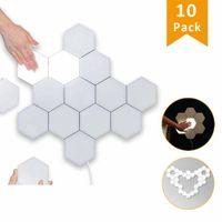 LED Wandbeleuchtung Hexagon mit Touch - 10 Platten