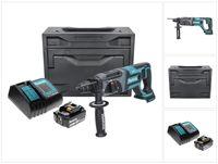 Makita DHR 241 ST1X Akku Bohrhammer 18 V 2,0 J SDS plus + 1x Akku 5,0 Ah + Ladegerät + Makbox