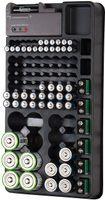 Batterietester 2in1-Batterie-Organizer für 98 Batterien mit Batterie-Tester Batteriehalter