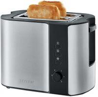 SEVERIN 2-Scheiben-Toaster AT 2589 Edelstahl / schwarz