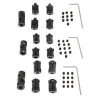 5 stücke schwarz motor wellenkupplung kupplung für rc auto boot roboter modell Größe 4 bis 4 mm