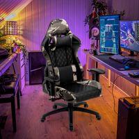 Futurefurniture®Gaming Stuhl Racing High Back Office Computerspiel Video Stuhl Ergonomische Rückenlehne und Sitzhöhenverstellung Recliner Drehbare Wippe mit Kopfstütze und Lendenkissen E-Sports Stuhl (Tarnung)