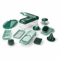 Genius Nicer Dicer Fusion Smart (16tlg) inkl. Spiralschneider Küchengerät Allesschneider Gemüseschneider in grün; A33811