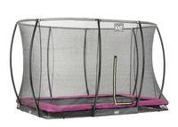 Trampolin EXIT Silhouette Ground mit Sicherheitsnetz 214x305cm pink