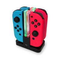 Ladestation für Nintendo Switch Controller, grüne LED Beleuchtung, Eaxus
