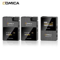 COMICA BoomX-D D2 Ein-Trigger-Zwei 2,4-G-Digital-Funkmikrofonsystem 50 m effektive Reichweite 3,5-mm-Schnittstelle fuer spiegellose DSLR-Kameras Smartphones