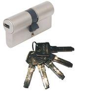 ABUS EC550 Doppelzylinder Länge (a/b) 40/60mm (c=100mm) mit 5 Schlüssel, SKG** Bohrschutz