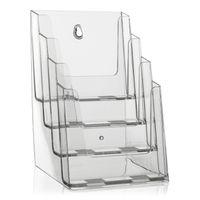 DIN A5 Tisch-Prospektständer mit 4 Etg. (Transparent)