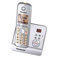 Panasonic KX-TG6721 Strahlungsarmes Schnurlostelefon mit Anrufbeantworter, Rufnummernanzeige, 15h Sprechzeit, 7 Tage Standby, Freisprechfunktion, DECT